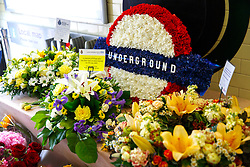 © Licensed to London News Pictures. 07/07/2015. London, UK. Flowers left for 7/7 London bombings victims on the 10th anniversary of 7/7 London bombings at Russell Square Tube Station on Tuesday, July 7, 2015. Photo credit: Tolga Akmen/LNP