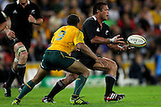 Keven Mealamu in action during the Tri Nations and Bledisloe Cup Rugby Union Test Match. Australian Wallabies v New Zealand, Suncorp Stadium, Brisbane, Australia on Saturday 27 August 2011.  Photo: Patrick Hamilton/Photosport
