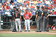 Mississippi head coach Mike Bianco at T.D. Ameritrade Park in the College World Series in Omaha, Neb. on Tuesday, June 17, 2014. Ole Miss won 2-1.