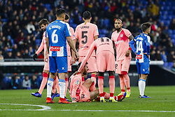 December 8, 2018 - Barcelona, Catalonia, Spain - FC Barcelona forward Lionel Messi (10) during the match RCD Espanyol against FC Barcelona, for the round 15 of the Liga Santander, played at RCD Espanyol Stadium  on 8th December 2018 in Barcelona, Spain. (Credit Image: © Mikel Trigueros/NurPhoto via ZUMA Press)