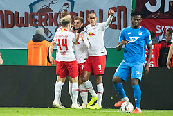 LEIPZIG, Nov. 1, 2018  Leipzig's Timo Werner (2nd L) celebrates his goal with teammates during the 2nd round match of German Cup between RB Leipzig and TSG 1899 Hoffenheim, in Leipzig, Germany, on Oct. 31, 2018. Leipzig won 2-0. (Credit Image: © Kevin Voigt/Xinhua via ZUMA Wire)