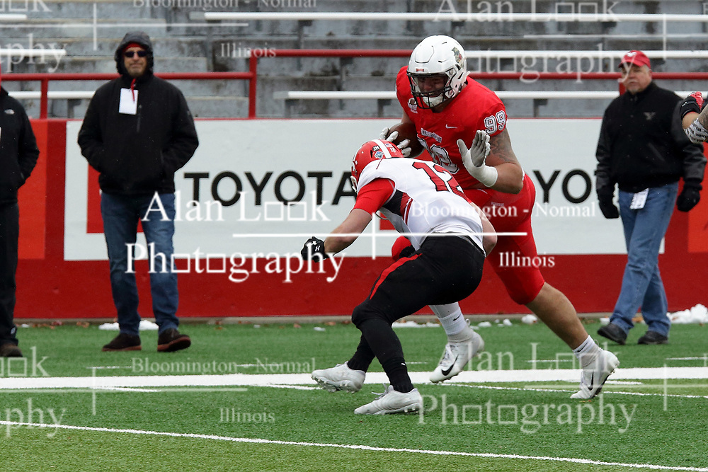 NORMAL, IL - November 17: John Ridgeway during a college football game between the ISU (Illinois State University) Redbirds and the Youngstown State Penguins on November 17 2018 at Hancock Stadium in Normal, IL. (Photo by Alan Look)