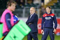 Bristol Rugby Director of Rugby Andy Robinson looks on during the warm up - Rogan Thomson/JMP - 20/10/2016 - RUGBY UNION - The Recreation Ground - Bath, England - Bath Rugby v Bristol Rugby - EPCR Challenge Cup.