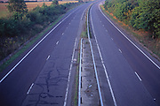 AYBR5D Dual carriageway without traffic at dusk