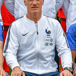 Head coach Didier Deschamps during the official french football team picture in Clairefontaine on May 30, 2018 in Paris, France. (Photo by Aude Alcover/Icon Sport)