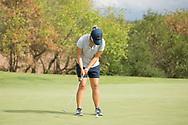 October 10, 2017 - Johnson City, Tennessee - Warren-Greene Golf Center: Yeji Ahn<br /> <br /> Image Credit: Dakota Hamilton/ETSU