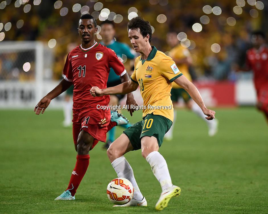 13.01.2015.  Sydney, Australia. AFC Asian Cup Group A. Australia versus Oman. Australian forward Robbie Kruse. Australia won the game 4-0.
