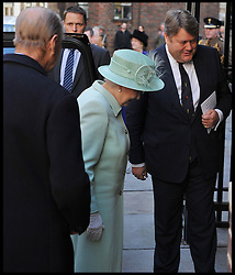 THE QUEEN AND THE DUKE OF EDINBURGH ARE GREETED BY Lord Strathclyde AS THEY ATTEND A SERVICE OF DEDICATION TO UNVEIL THE DIAMOND JUBILEE WINDOW AT THE QUEEN'S CHAPEL OF THE SAVOY, Thursday November 1, 2012 Photo Andrew Parsons / i-Images..