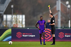 Rinsola Babajide of Liverpool Women is shown a yellow card - Mandatory by-line: Paul Knight/JMP - 17/11/2018 - FOOTBALL - Stoke Gifford Stadium - Bristol, England - Bristol City Women v Liverpool Women - FA Women's Super League 1