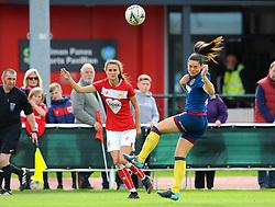 Rosella Ayane of Bristol City crosses the ball - Mandatory by-line: Nizaam Jones/JMP - 28/04/2019 - FOOTBALL - Stoke Gifford Stadium - Bristol, England - Bristol City Women v West Ham United Women - FA Women's Super League 1
