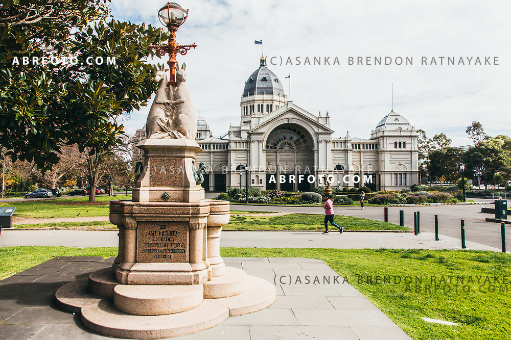 The Westgarth Fountain in front of the Royal Exhibition building in Fitzroy Melbourne, Australia, September 1, 2017. The fountain statue was a gift from one of the earliest colonist William Westgarth, it stands next to the Moreton bay Fig Tree. Asanka Brendon Ratnayake for the New York Times