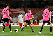 Allan Campbell of Scotland during the U21 UEFA EURO first qualifying round match between England and Scotland at the Riverside Stadium, Middlesbrough, England on 6 October 2017. Photo by Paul Thompson.