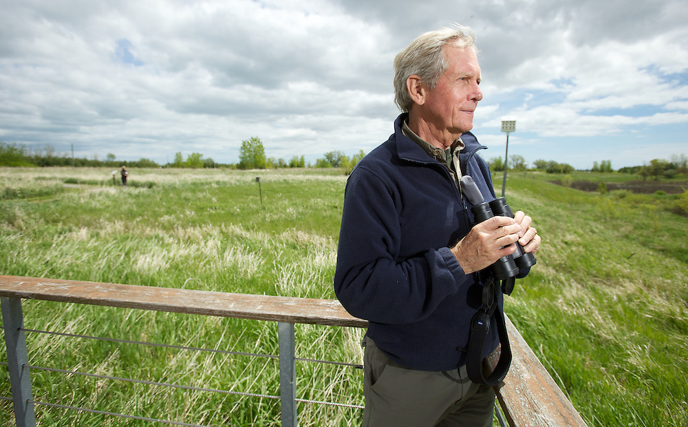Port Rowan, Ontario ---10-05-15--- Artist and naturalist Robert Bateman poses for a photo at the Bird Studies Canada centre in Port Rowan, Ontario near Long Point as part of the centre's 50th anniversary celebrations, May 15, 2010.<br /> GEOFF ROBINS The Globe and Mail