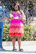 Pregnant Mindy Kaling seen on set - 18 Sep 2017