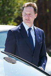 © Licensed to London News Pictures. 12/06/2015. Fort William, UK. Former Liberal Democrat leader Nick Clegg attending the funeral of ex-Liberal Democrat leader Charles Kennedy at St John's Church in Caol, near his Fort William home in Scotland on Friday, June 12, 2015. Mr Kennedy died suddenly on June 1, 2015 at the age of 55 after suffering a major haemorrhage as a result of a long battle with alcoholism. Photo credit: Tolga Akmen/LNP