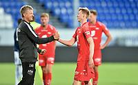 Fotball , 02. juli 2020 , Eliteserien  ,  Sarpsborg - Brann<br /> Ole Martin Kolskogen   , Brann <br /> trener Lars Arne Nilsen , Brann