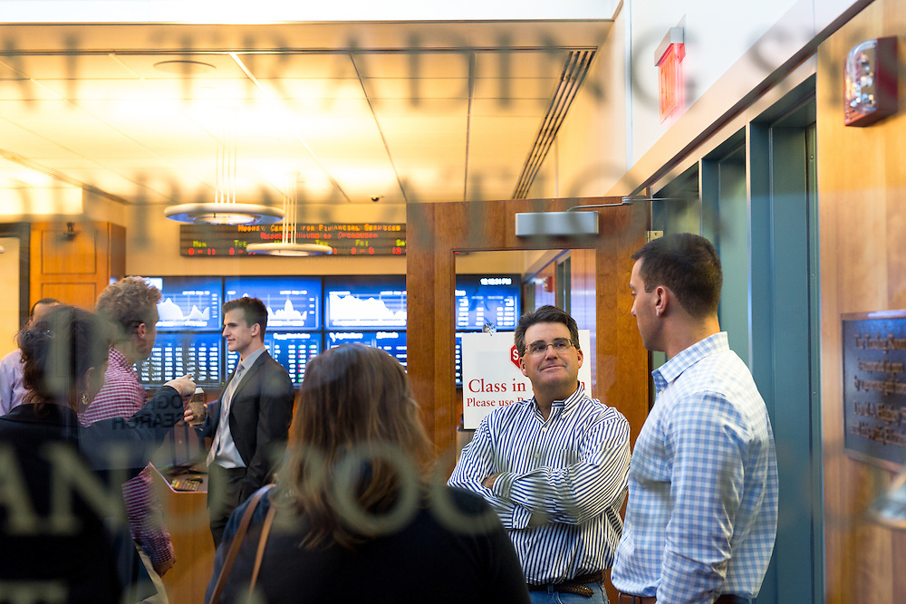 Waltham, MA 09/27/2015<br /> Bentley University Fall Open House<br /> Mark Welcome, second from right<br /> Alex Jones / www.alexjonesphoto.com