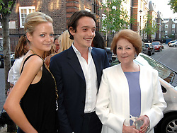 Left to right, LADY ELOISE ANSON, the 6th EARL OF LICHFIELD and LADY ELIZABETH ANSON at the launch of The Rupert Lund Showroom, 61 Chelsea Manor Street, London SW3 on 2nd May 2007.<br />