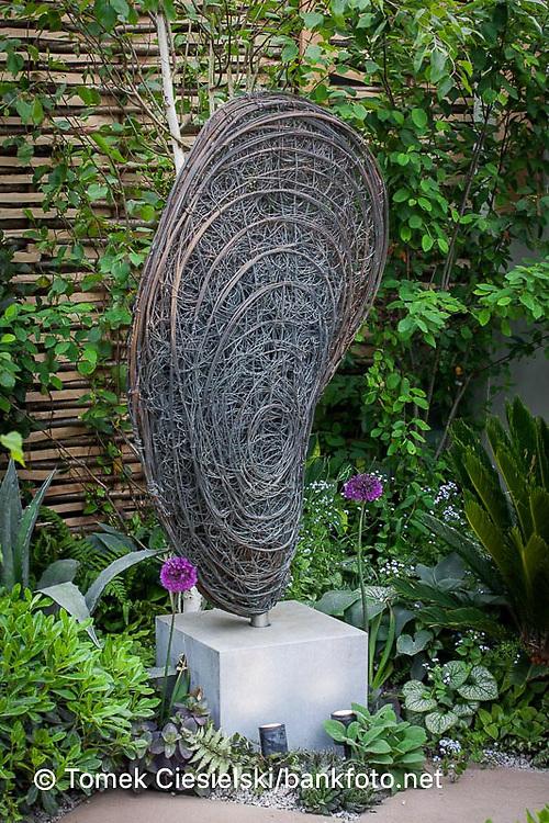 Modern abstract metal sculpture