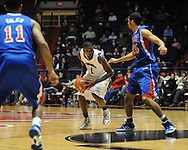 """Ole Miss' Terrance Henry (1) vs. SMU at the C.M. """"Tad"""" Smith Coliseum in Oxford, Miss. on Tuesday, January 3, 2012. Ole Miss won 50-48."""