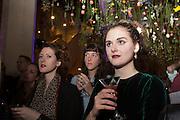 PANDORA MCCORMICK;; KATIE ROBERTSON-MACLEOD;  SYBILLA PHIPPS; Fashion and Gardens, The Garden Museum, Lambeth Palace Rd. SE!. 6 February 2014.