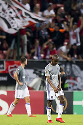 September 20, 2018 - Trnava, SLOVAKIA - Anderlecht's Knowledge Musona looks dejected during a match between Belgian soccer team RSC Anderlecht and Slovakian club Spartak Trnava, Thursday 20 September 2018 in Trnava, Slovakia, on day one of the UEFA Europa League group stage. BELGA PHOTO JASPER JACOBS (Credit Image: © Jasper Jacobs/Belga via ZUMA Press)