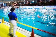 Arbitro<br /> Padova (bianca) - Messina (blu)<br /> Finale 1-2 posto <br /> Final Four  Coppa Italia FIN Femminile pallanuoto 2016-17<br /> Centro Federale di Ostia, Roma, ITA<br /> 1 Aprile 2017<br /> &copy;Giorgio Scala / Deepbluemedia