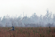 INDONESIA, Padamaran : 27 October 2015 Fire fighter prepare to extinguish forest fire in Ogan Komering Ilir district, South Sumatra.The air pollution or haze has been an annual problem for the past 18 years in Indonesia . forest fire in Sumatra and borneo that have caused widespread and haze in Southeast Asia. Pic by Hairul Akbar / Story Picture Agency