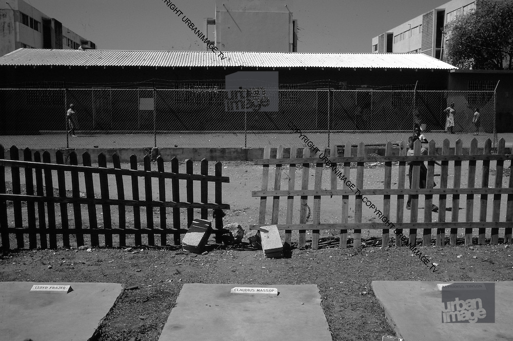 Graves of Gang Leaders Lloyd Frazer, Claudios Massop and Alphanso Tinson in Trenchtown Jamaica