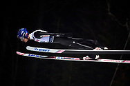 Poland, Wisla Malinka - 2017 November 18: Maciej Kot from Poland soars in the air during FIS Ski Jumping World Cup Wisla 2017/2018 - Day 1 at jumping hill of Adam Malysz on November 18, 2017 in Wisla Malinka, Poland.<br /> <br /> Mandatory credit:<br /> Photo by © Adam Nurkiewicz<br /> <br /> Adam Nurkiewicz declares that he has no rights to the image of people at the photographs of his authorship.<br /> <br /> Picture also available in RAW (NEF) or TIFF format on special request.<br /> <br /> Any editorial, commercial or promotional use requires written permission from the author of image.