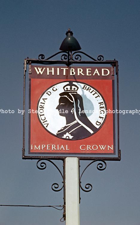 Pub Signs, Imperial Crown, Penge, Kent, Britain