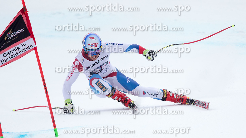 27.02.2015, Kandahar, Garmisch Partenkirchen, GER, FIS Weltcup Ski Alpin, Abfahrt, Herren, 2. Training, im Bild Mauro Caviezel (SUI) // Mauro Caviezel of Switzerland in action during the 2nd trainings run for the men's Downhill of the FIS Ski Alpine World Cup at the Kandahar course, Garmisch Partenkirchen, Germany on 2015/27/02. EXPA Pictures © 2015, PhotoCredit: EXPA/ Johann Groder
