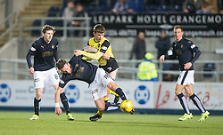 Falkirk's Lee Miller and Livingston Kieran Gibbons. Falkirk 2 v 0 Livingston, Scottish Championship game played 29/12/2015 at The Falkirk Stadium.