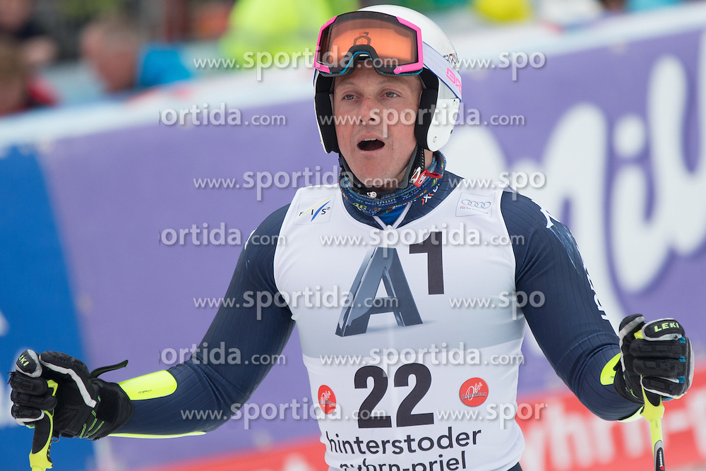 28.02.2016, Hannes Trinkl Rennstrecke, Hinterstoder, AUT, FIS Weltcup Ski Alpin, Hinterstoder, Riesenslalom, Herren, 2. Lauf, im Bild Massimiliano Blardone (ITA) // Massimiliano Blardone of Italy reacts after his 2nd run of men's Giant Slalom of Hinterstoder FIS Ski Alpine World Cup at the Hannes Trinkl Rennstrecke in Hinterstoder, Austria on 2016/02/28. EXPA Pictures © 2016, PhotoCredit: EXPA/ Johann Groder