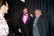 CATHERINE BAILEY; SIMON LEBON; DAVID BAILEY, GQ Men of the Year awards. The royal Opera House. Covent Garden. London. 6 September 2011. <br /> <br />  , -DO NOT ARCHIVE-© Copyright Photograph by Dafydd Jones. 248 Clapham Rd. London SW9 0PZ. Tel 0207 820 0771. www.dafjones.com.