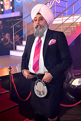 Hardeep Singh Kohli enters the house during the Celebrity Big Brother Launch Night at Elstree Studios, Hertfordshire.