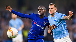 February 21, 2019 - London, Great Britain - 190221 N'Golo Kante of Chelsea in action with Arnor Traustason of Malmö FF during the Europa league match between Chelsea and Malmö FF on February 21, 2019 in London..Photo: Petter Arvidson / BILDBYRÃ…N / kod PA / 92228 (Credit Image: © Petter Arvidson/Bildbyran via ZUMA Press)