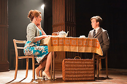 © Licensed to London News Pictures. 23/04/2012. London, England. Anna Chancellor as Belinda Duffield and Alex Lawther as John Blakemore. Actors Anna Chancellor and  Nicholas Farrell star in a double bill - South Downs by David Hare, directed by Jeremy Herrin and The Browning Version by Terence Rattigan, directed by Angus Jackson at the Harold Pinter Theatre. Photo credit: Bettina Strenske/LNP