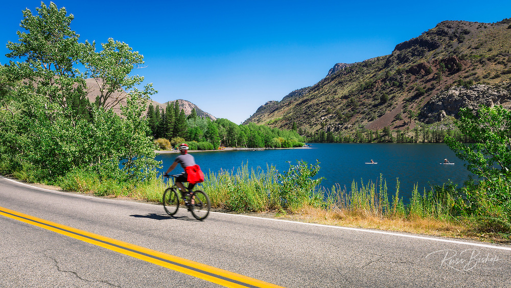 Cycling the June Lake Loop at Silver Lake, Inyo National Forest, June Lake, California USA