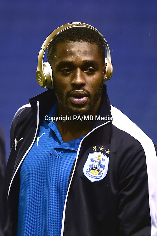 Huddersfield Town's Mustapha Carayol on a pitch walk prior to the game