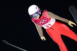 February 12, 2018 - Pyeongchang, SOUTH KOREA - 180212 Lea Lemare of France competes in Ski Jumping, Women's Normal Hill Individual Final, during day three of the 2018 Winter Olympics on February 12, 2018 in Pyeongchang..Photo: Joel Marklund / BILDBYRÃ…N / kod JM / 87619 (Credit Image: © Joel Marklund/Bildbyran via ZUMA Press)