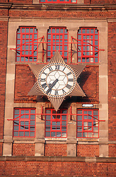 Star clock on Shipstones building in Nottingham,