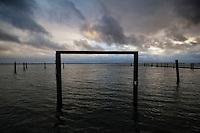 Alameda Point Seascape at Sunset, Alameda, California