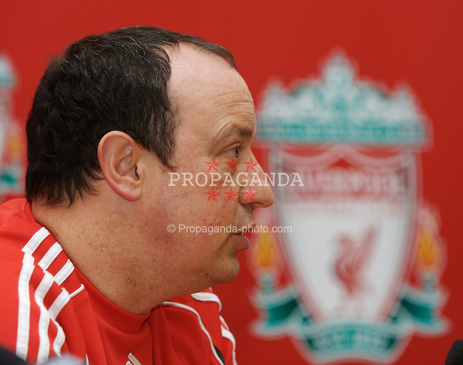 Liverpool, England - Thursday, February 1, 2007: Liverpool FC's manager manager Rafael Benitez at a press conference ahead of the Merseyside Derby against Everton. (Pic by David Rawcliffe/Propaganda)