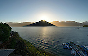 Comau Fjord is a fjord that penetrates the mainland of Chile. Patagonien. It It runs in north-south direction and is 68 km long. Comau Fjord, Patagonia, Chile |