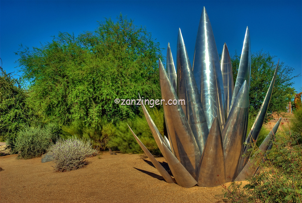 Palm Desert, CA, Fred Waring Drive, Steel, Cactus, floral Display, Art, Sculpture, statue