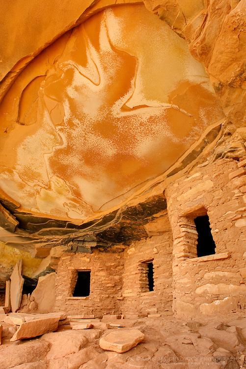 Anasazi ruins, Road Canyon of Grand Gulch Primitive Area, Cedar Mesa Utah Bears Ears National Monument
