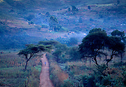 Chimanimani Road and early morning blue haze