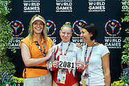 SO Poland athlete Brigade Alicka competes at gymnastic competition during eighth day of the Special Olympics World Games Los Angeles 2015 on August 1, 2015 at Wooden Centre on UCLA (University of California Los Angeles) in Los Angeles, USA.<br /> USA, Los Angeles, August 1, 2015<br /> <br /> Picture also available in RAW (NEF) or TIFF format on special request.<br /> <br /> For editorial use only. Any commercial or promotional use requires permission.<br /> <br /> Adam Nurkiewicz declares that he has no rights to the image of people at the photographs of his authorship.<br /> <br /> Mandatory credit:<br /> Photo by © Adam Nurkiewicz / Mediasport