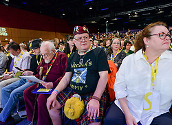 Pictured: Delegates were in buoyant mood ahead of the start of conference.<br /> <br /> The SNP held their spring conference at the EICC in Edinburgh, where independence and brevet were high on the agenda.<br /> <br /> © Dave Johnston / EEm